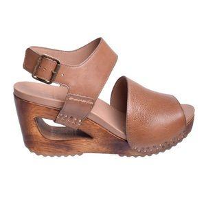 Dansko shona wedge sandal tumbled calf leather